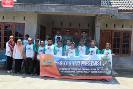 Sosialisasi Undang -Undang dan Batas Kawasan Taman Nasional Gunung Merapi Tahun 2016