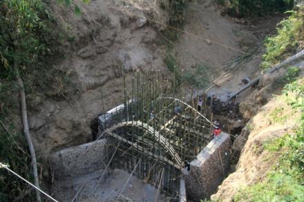 Perkembangan Pembangunan Jembatan Kaligompyong-Bendosari 2017