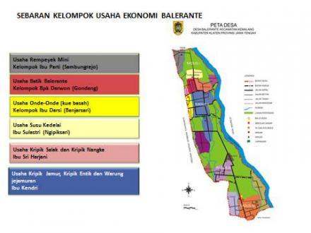 Sebaran Kelompok Usaha Ekonomi Desa Balerante