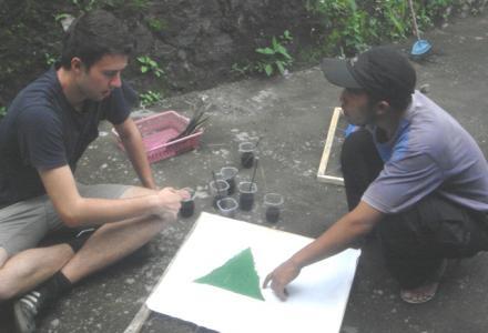 Mahasiswa Australia belajar batik di Balerante